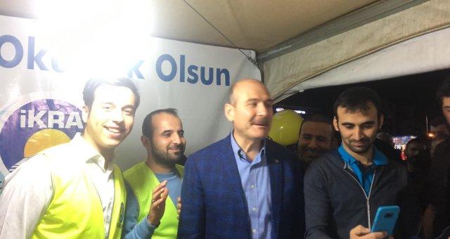 İçişleri Bakanımız Süleyman SOYLU Çadırımızı Ziyarette Bulundular.